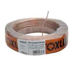 Fio para Som Foxlux 2 X 0,75 MM Cristal 18 RL C/100 mt