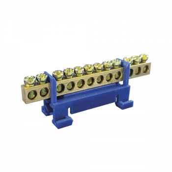 Barramento Foco 12F Neutro Azul