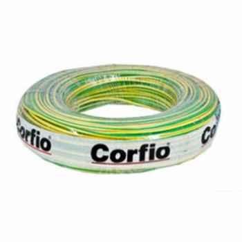 Cabo Flexível Sil ou Corfio 750V  2,50MM Verde e Amarelo com 100 mt