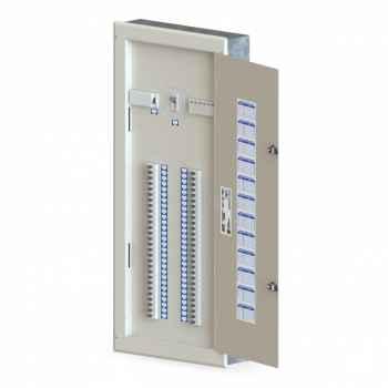 Quadro Opção c/Bar. 225A Embutir 56 Din Trifásico