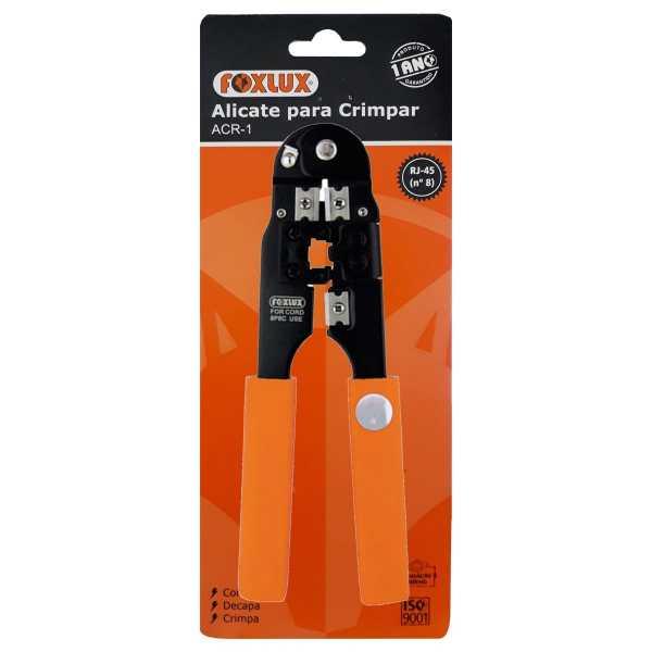 Alicate Foxlux para Crimpar RJ45 Nº8  3701