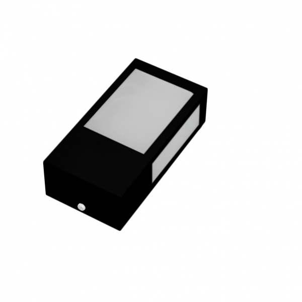 Arandela Incolustre Mini 01A Preto Alumínio