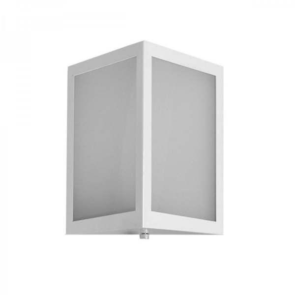 Arandela Incolustre Square Pequeno Alumínio Branco