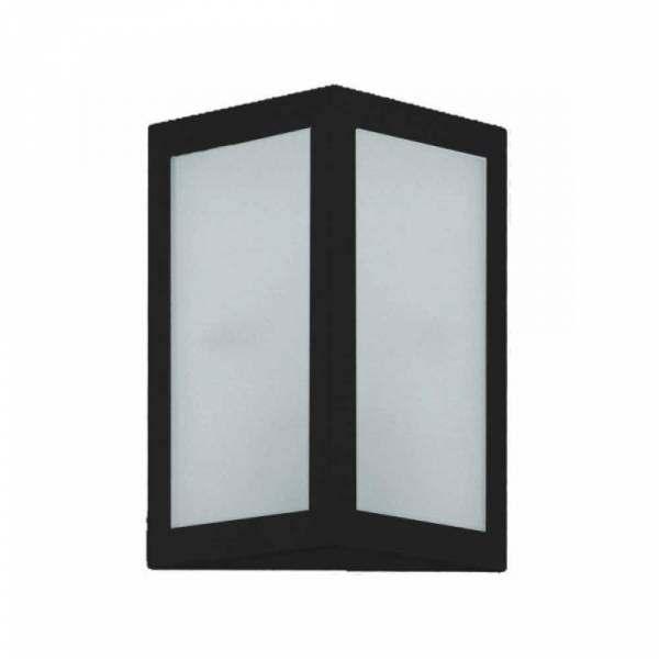 Arandela Incolustre Square Pequeno Alumínio Preto