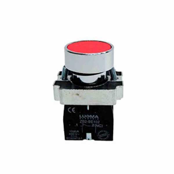 Botão Lukma LK2 1NF Vermelho LK2BA42