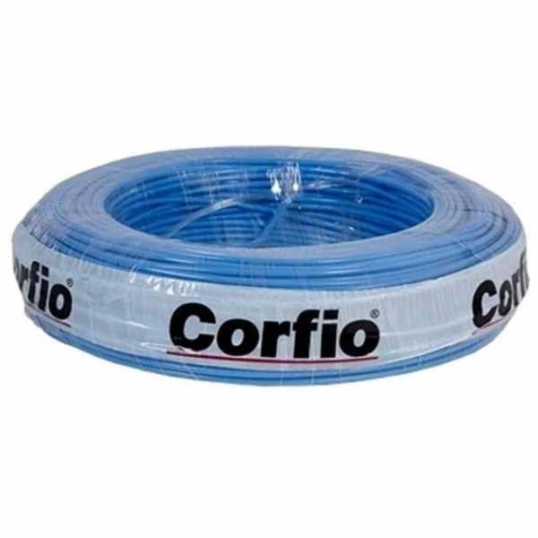 Cabo Flexível 750V 10mm Azul C/15M Corfio