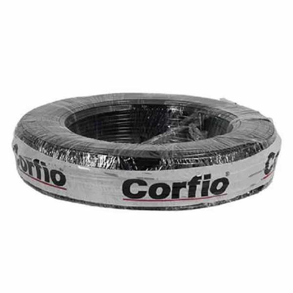 Cabo Flexível 750V 4mm Preto C/50M Corfio