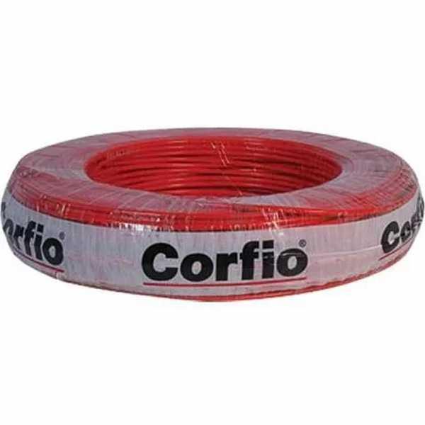 Cabo Flexível 750V 6mm Vermelho C/15M Corfio