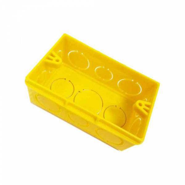 Caixa Alumbra 4 X 2 Amarela PVC  8802