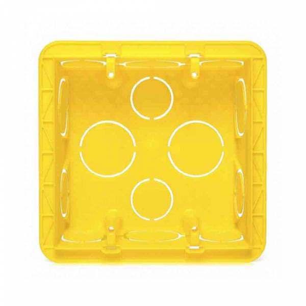 Caixa Alumbra 4 X 4 Amarela PVC  8803