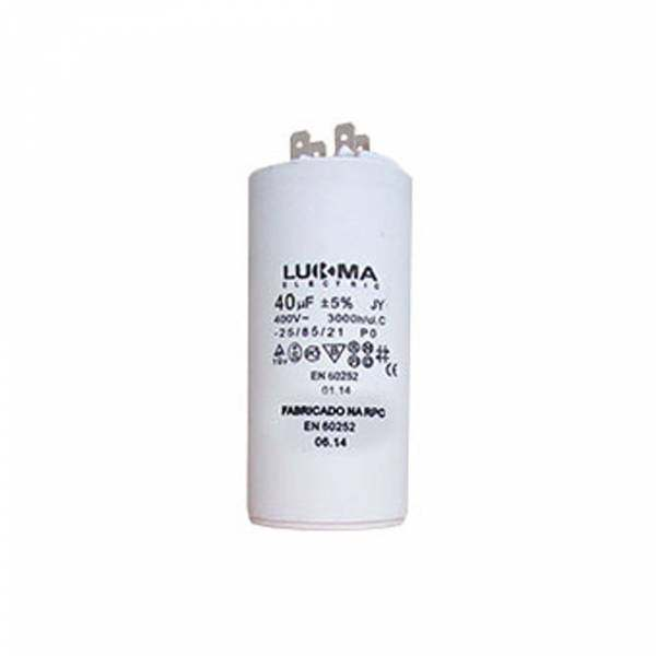 Capacitor Permanente Lukma 40UF 400V 50007