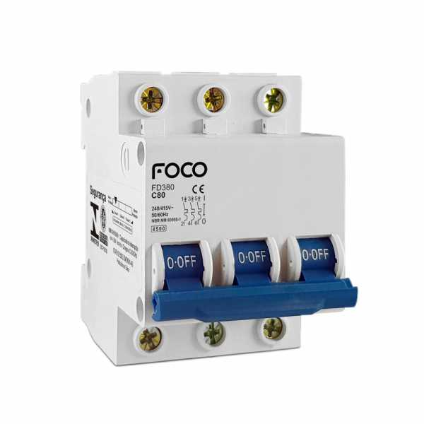 Disjuntor Din Foco 3X06A 3KA F306