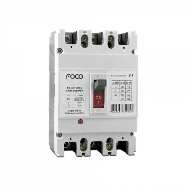 Disjuntor Foco Caixa Moldada 3X200A   F200
