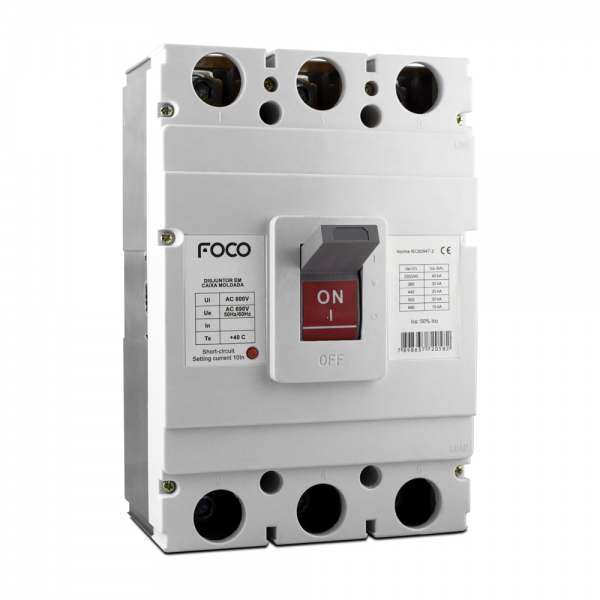 Disjuntor Foco Caixa Moldada 3X800A   F800