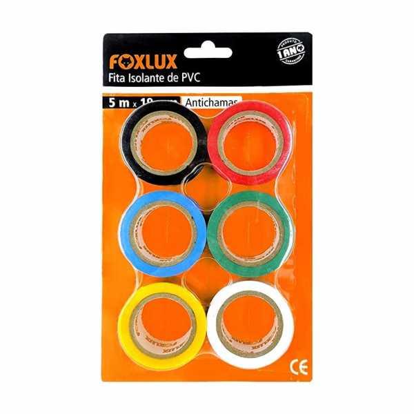 Fita Isolante Foxlux Color Blister 6 cores 1019