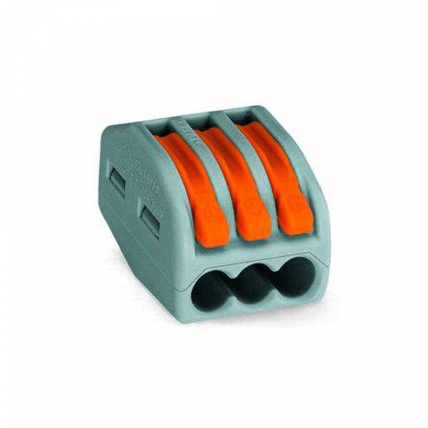 Kit Conector Wago Emenda 3 Polos 222-413 - 4 Peças