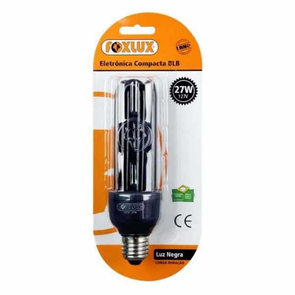 Lampada Eletrônica Foxlux Luz Negra 27W 220V