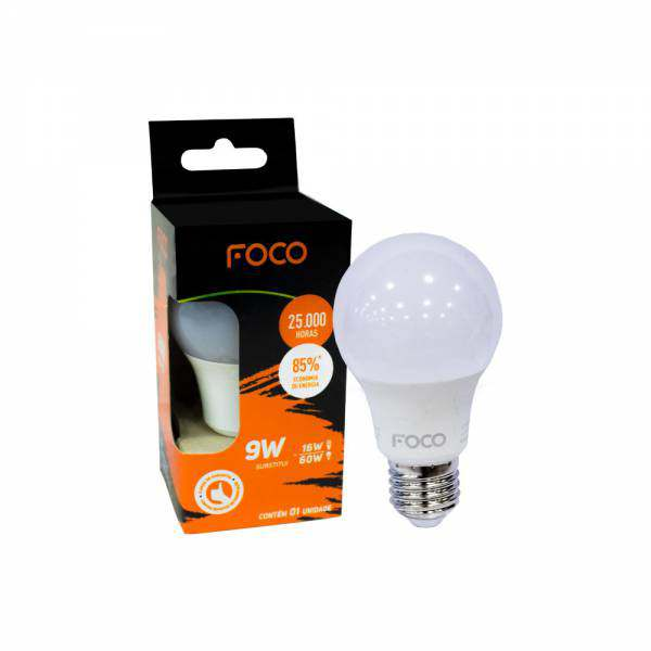 Lâmpada Foco LED Bulbo 9W 6500K 810LM Bivolt
