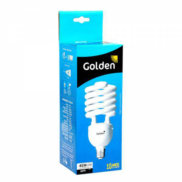 Lampada Golden Eletrônica Espiral 46W 127V 6500K E27