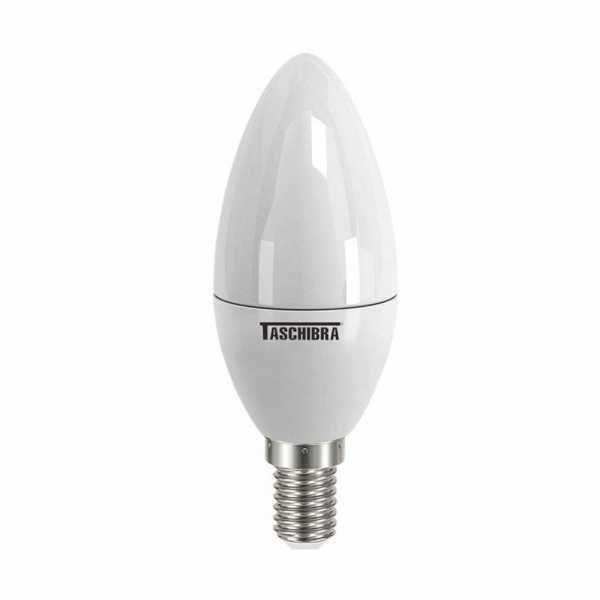 Lampada Led Taschibra Vela Leitosa 3,1W 3000K E14 Bivolt