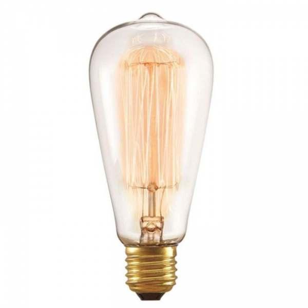 Lampada Taschibra Filamento Carbono ST64 40W 127V