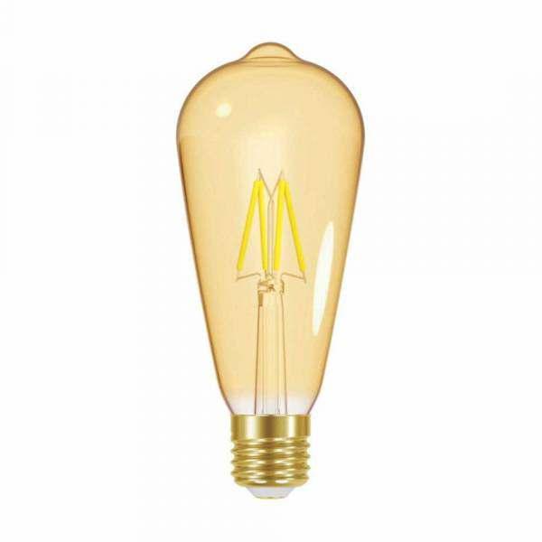 Lampada Taschibra Filamento Led Vintage ST64 Pera Bivolt
