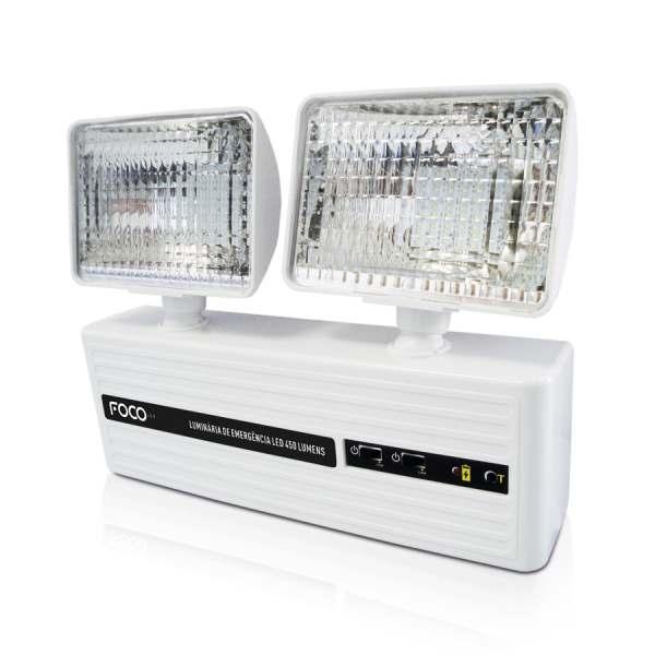 Luminária Emergência Foco Bloco Autônomo LED 450 L