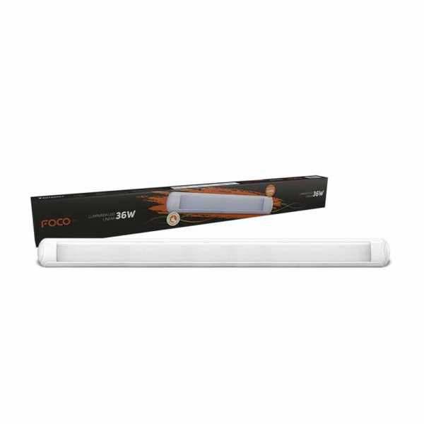 Luminária Led Foco Linear ABS 36W  3240L 6500K Bivolt
