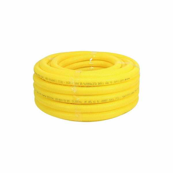 Mangueira Corrugada Amarela 1 C/25M Foco