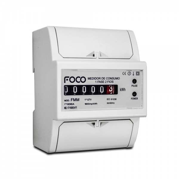 Medidor de Consume Foco Monofásico 127V 50A
