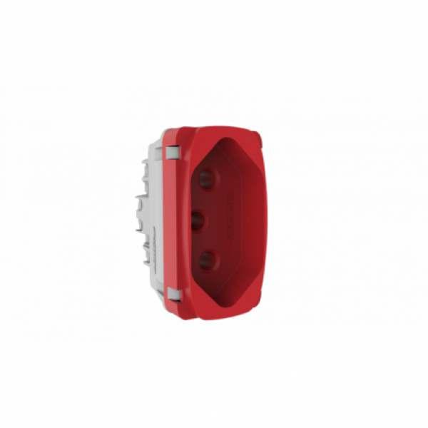 Modulo Tomada Alumbra Gracia 20A Vermelha 85315