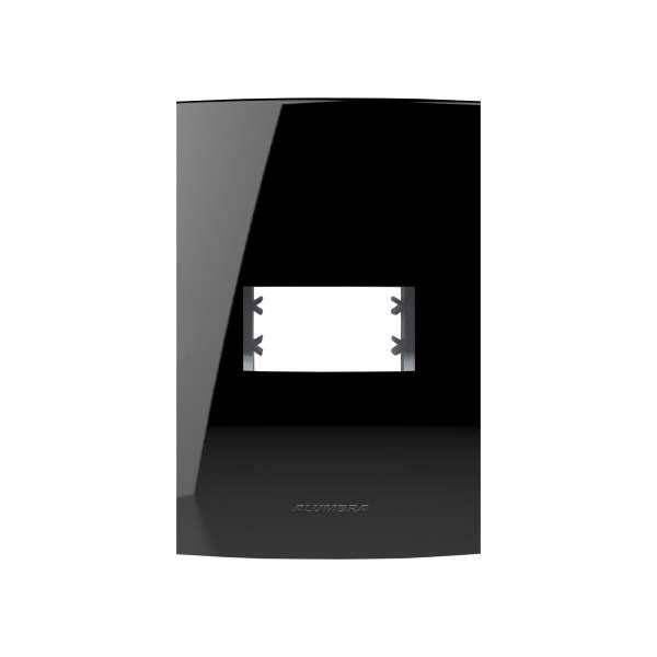 Placa 4X2 Alumbra Inova Pro Class 1 Módulos Black Piano 85526