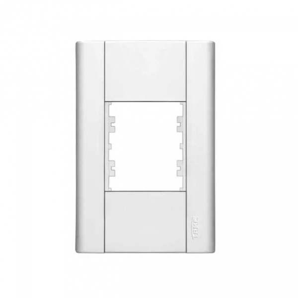 Placa 4X2 Fame Modulare para 2 Módulos 072