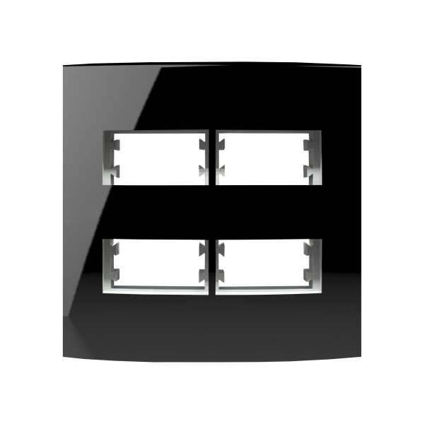 Placa 4X4 Alumbra Inova Pro Class 4 Módulos Black Piano 85531