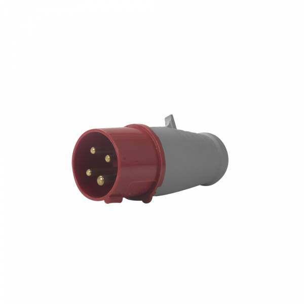Plug Soprano 3P+T 16A 380V Vermelho 6H 4076