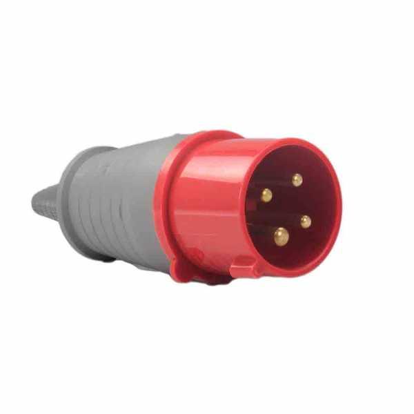 Plug Soprano 3P+T 32A 380V Vermelho 6H 4276