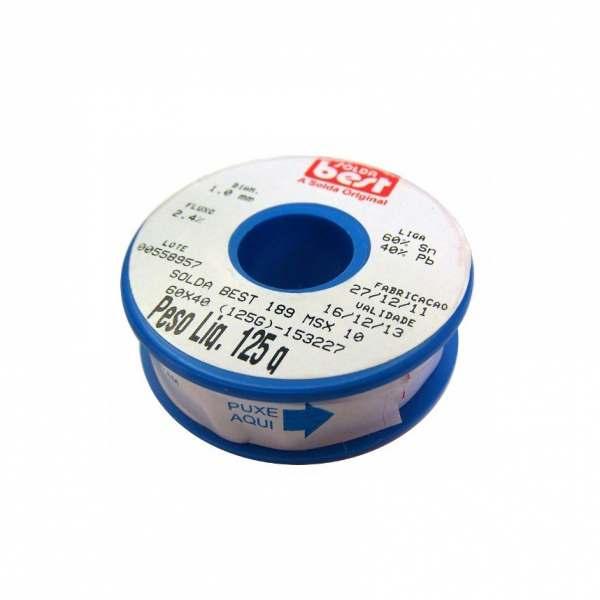 Solda Best Estanho Carretel Azul 125GR