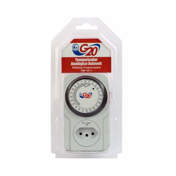 Timer G20 TMP10111 Analógico para Tomada Autovolt