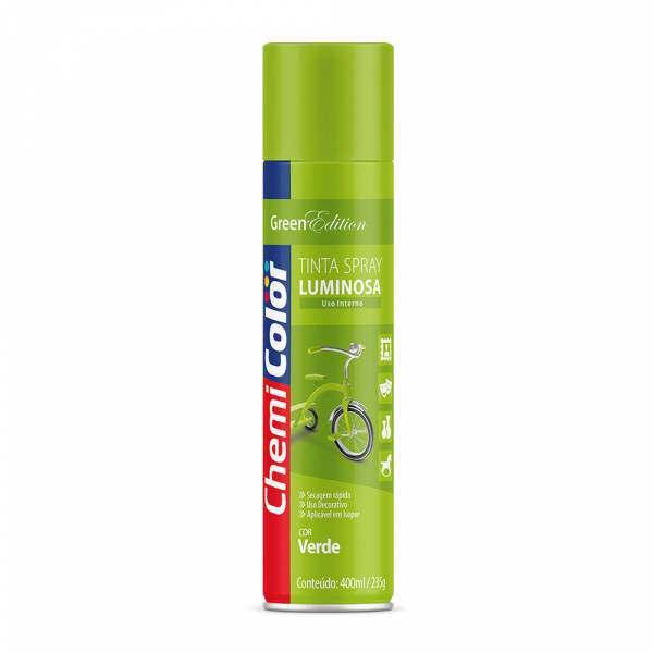 Tinta Spray Chemicolor Luminosa Verde 400ML