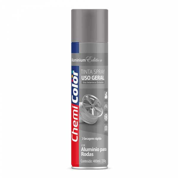 Tinta Spray Chemicolor Uso Geral Alumínio para Roda 400ML