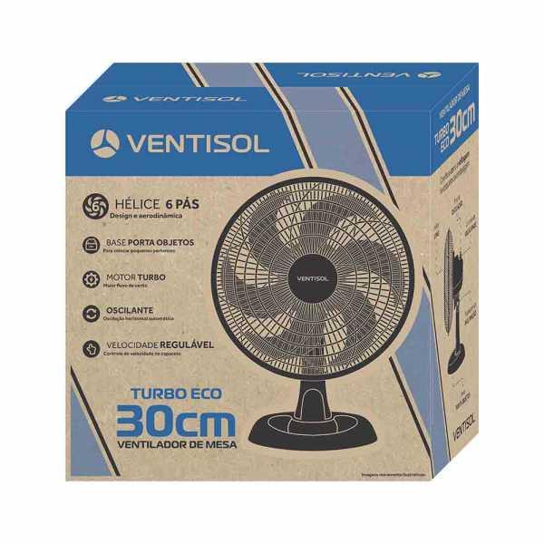 Ventilador de Mesa Ventisol Turbo 6 pás 127V 30cm